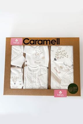 Caramell Unisex Beyaz %100 Pamuk Organik 10 Lu Hastane Çıkış Set BS2114690147912