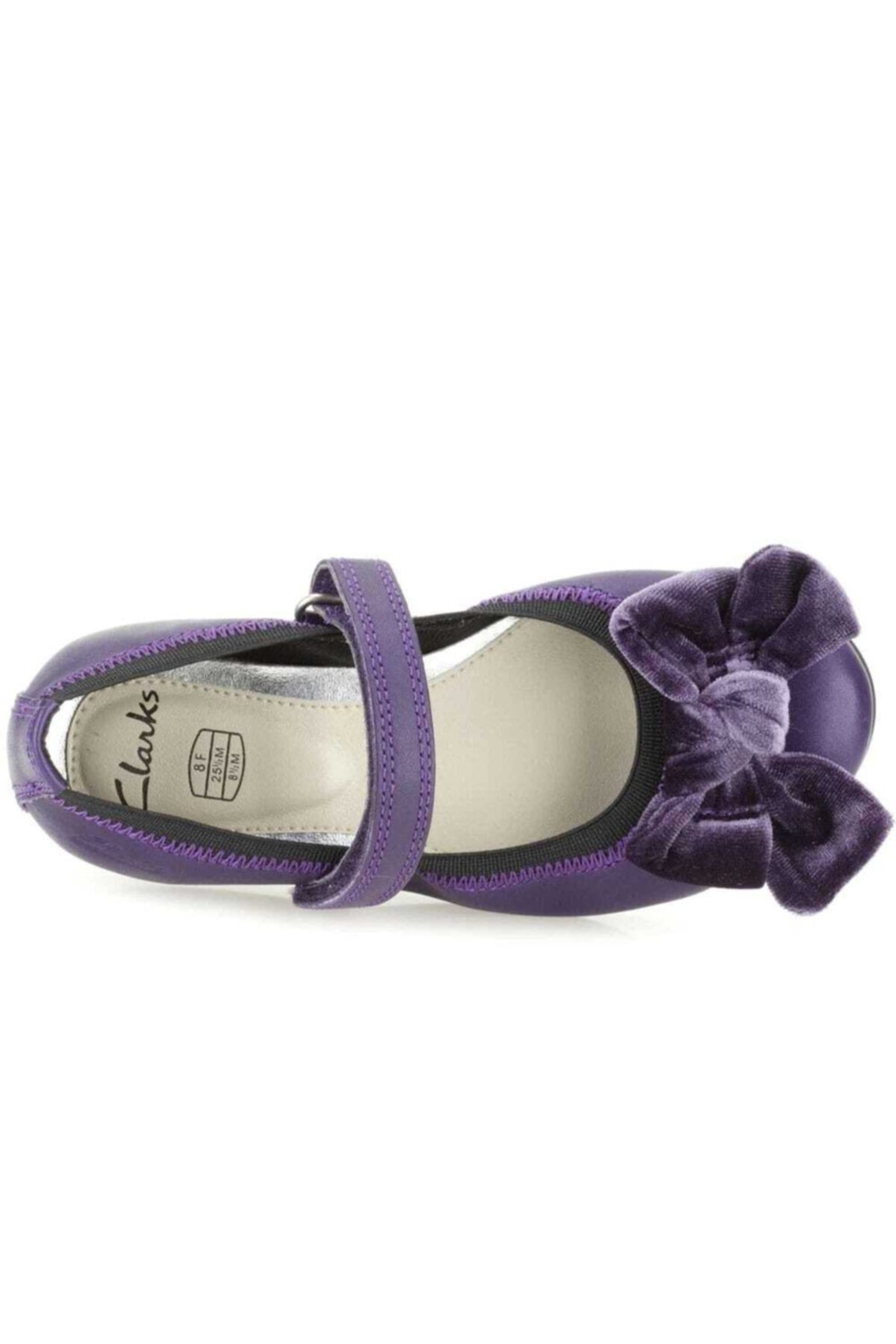 CLARKS Kız Çocuk Mor Rahat Bale Tarzı Ayakkabı 2