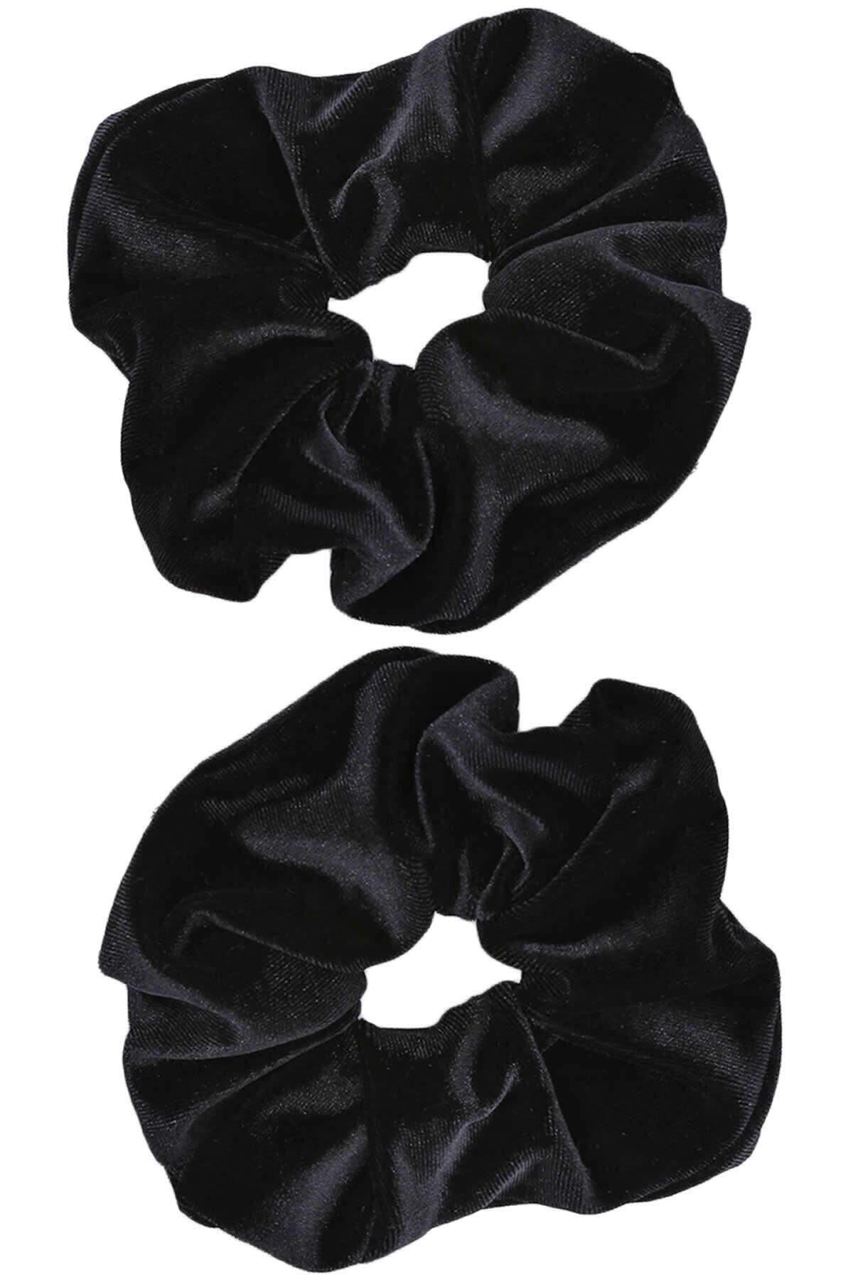İnci Accessories 2 ' Li Kadife Siyah Lastik Toka 1