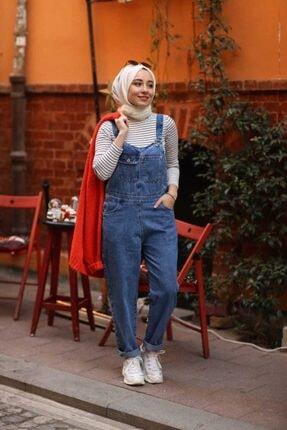 esmaboutique Kadın Mavi Bahçıvan Tulum