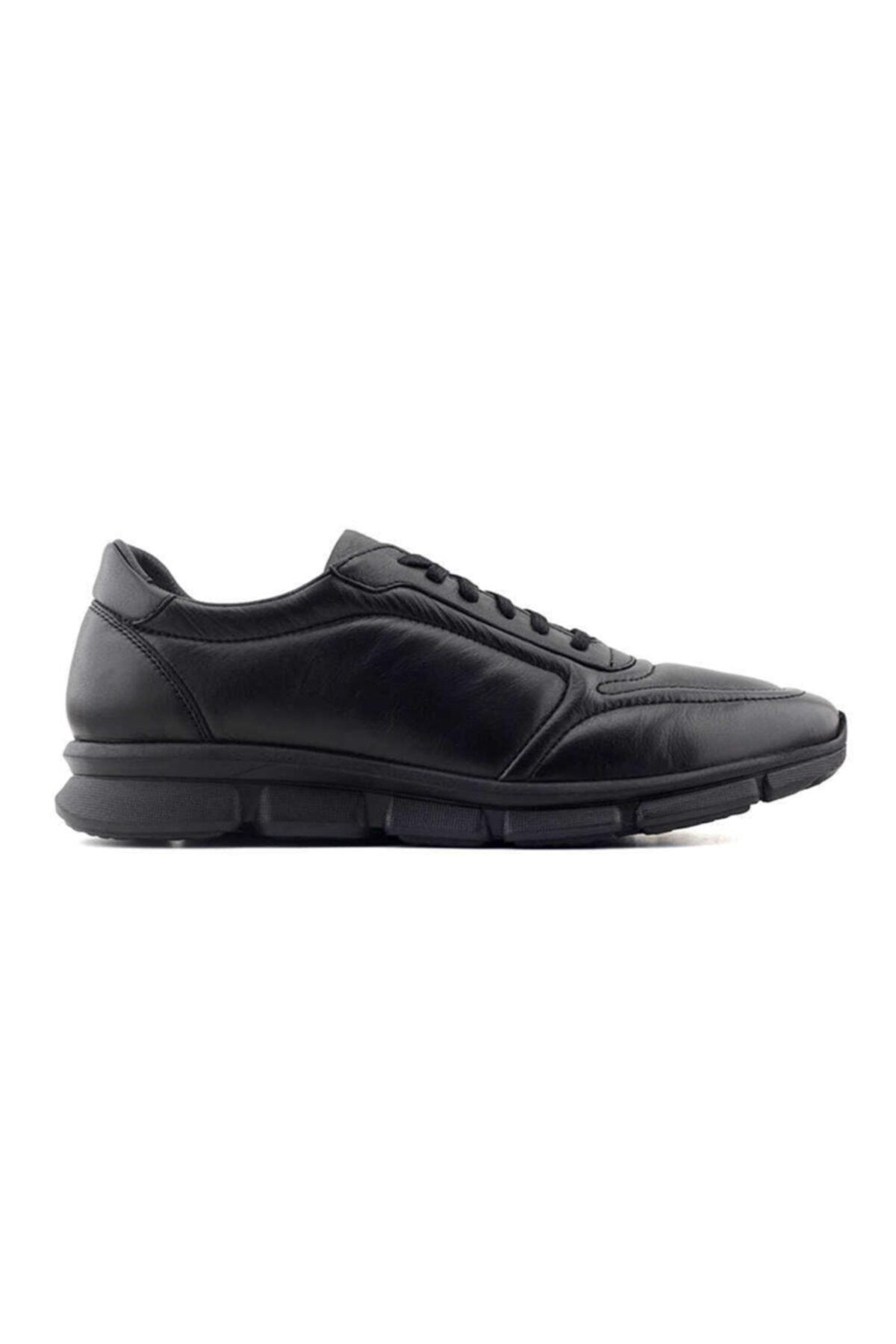 Kayra Chic Foots 011 Hakiki Deri Erkek Ayakkabı-siyah 1