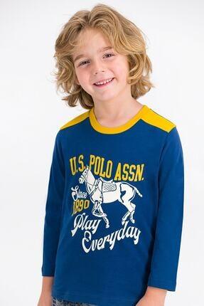 U.S. Polo Assn. Kids U.s. Polo Assn Lisanslı Koyu Indigo Erkek Çocuk Pijama Takımı