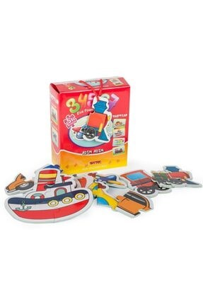 DIY Toys Kut.puzzle Taşıtlar 3 4 5 6 7