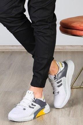 Madmext Erkek Gri Yüksek Taban Sneaker Ms020