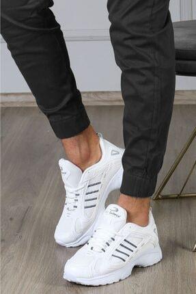 Madmext Erkek Beyaz Yüksek Taban Sneaker Ms021