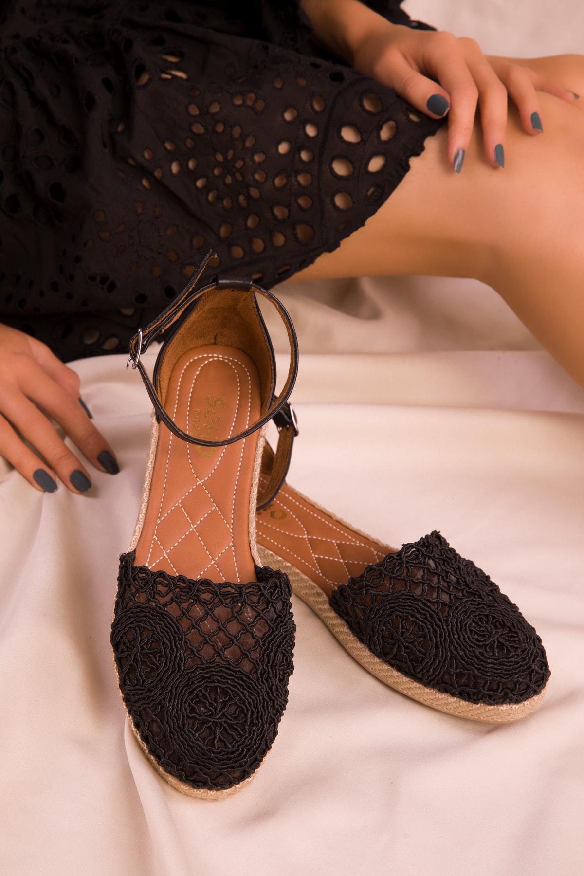 SOHO Siyah Kadın Sandalet 15046 2