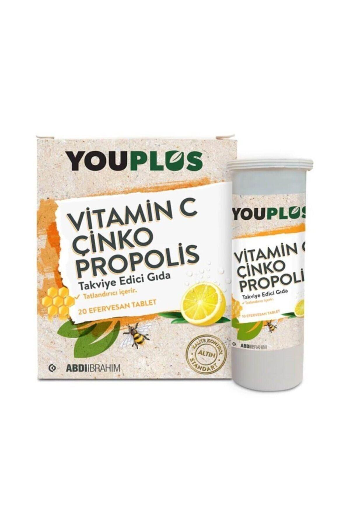 Youplus Vitamin C & Çinko & Propolis 20 Efervesan Tablet 1