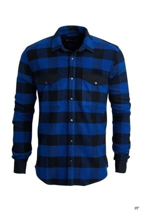 Bad Bear Erkek  Mavi Oduncu Gömlek