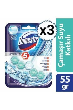 Domestos Wc Blok 5'li Güç Çamaşır Suyu Katkılı X 3 Adet