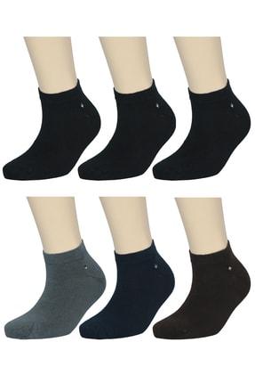 FandD 6'lı Bambu Çorap Patik Asorti Dikişsiz (Paket Içi 3 Siyah 1 Laci- 1 Gri- 1 Kahve)