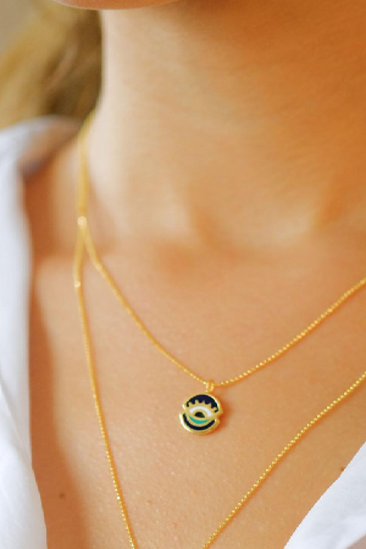 Gui Jewellery Universe Mini Kolye Gümüş Üzeri Altın Kaplama 2