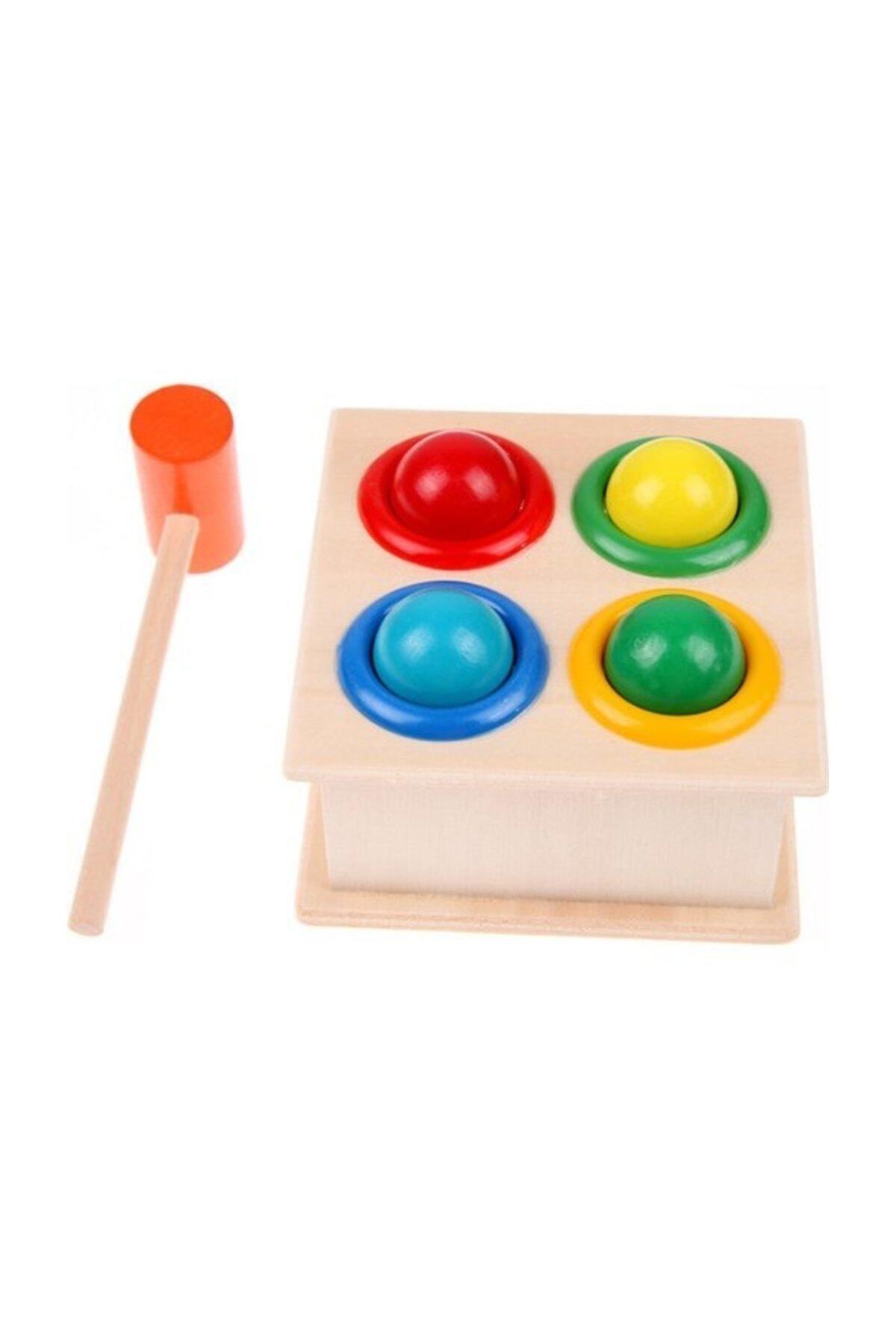 Wooden Toys Ahşap 4'lü Çekiçli Tak Çak Oyunu 1