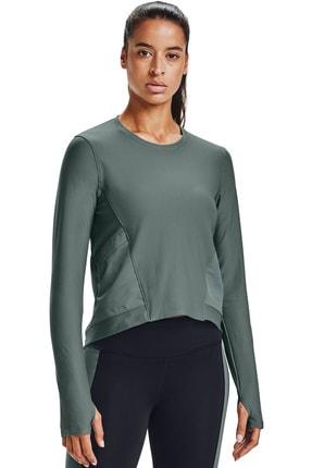 Under Armour Kadın Spor T-Shirt - Ua Run Anywhere Cropped Ls - 1359797-424