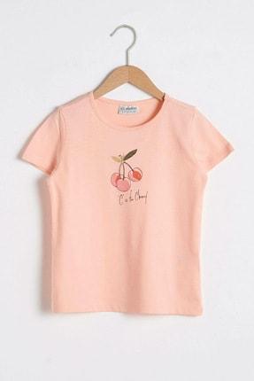 LC Waikiki Kız Çocuk Şeftali G6S T-Shirt