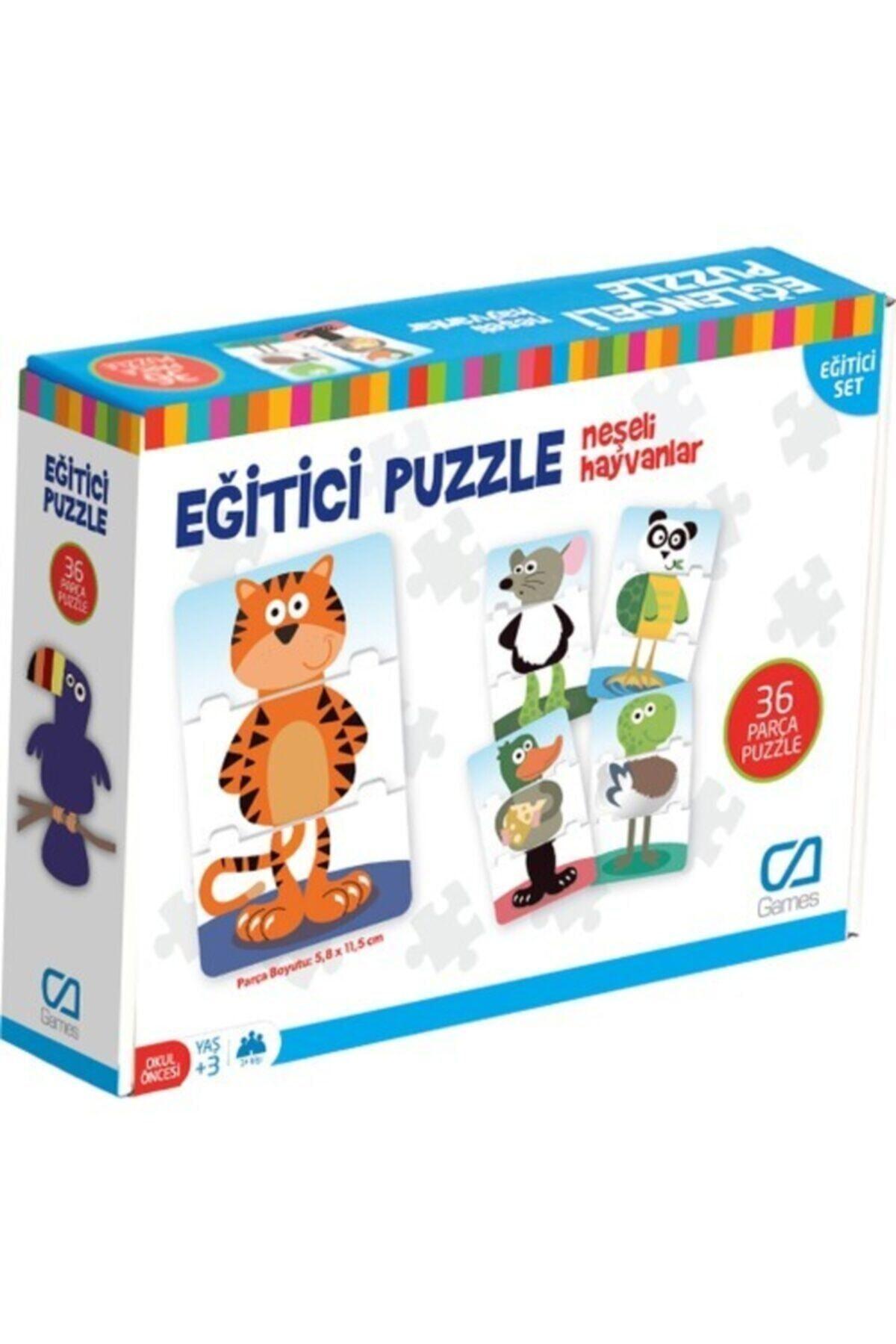 CA Games Eğitici Puzzle Neşeli Hayvanlar Ca.5028 1
