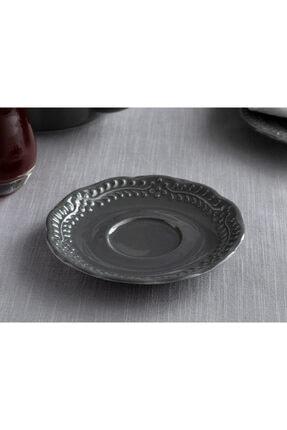 English Home Viyana Porselen Çay Tabağı 12 Cm Antrasit