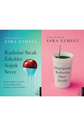 Destek Yayınları Esra Ezmeci 2 Kitap Set Kadınlar Sıcak Erkekler Soğuk Sever-düştüğünde Kalkarsan Hayat Güzeldir