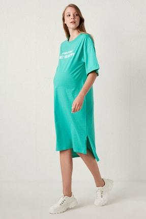 LC Waikiki Kadın Yeşil Hamile Elbise