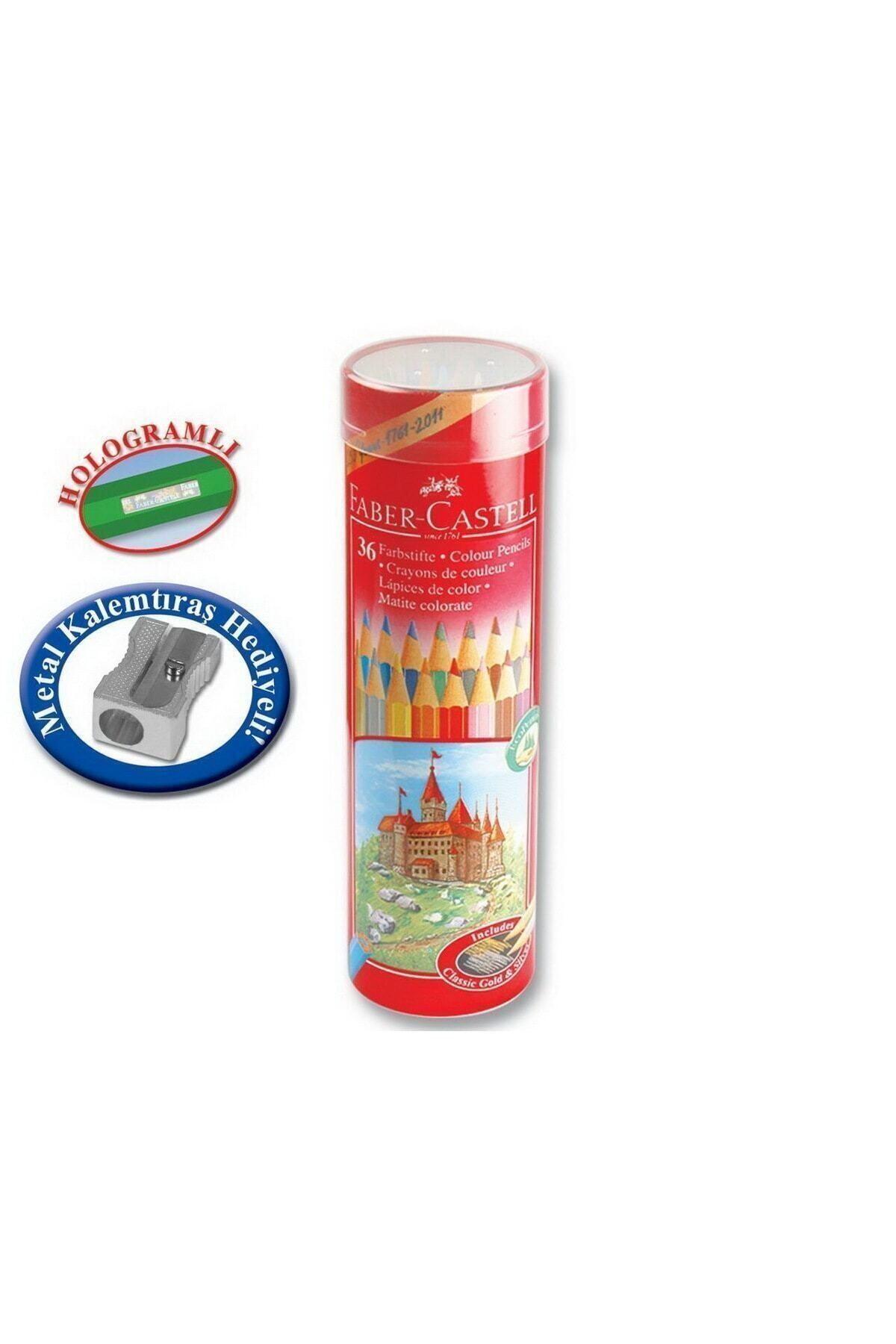 Faber Castell 36 Renk Metal Tüp Uzun Kuru Boya 5173115060 2