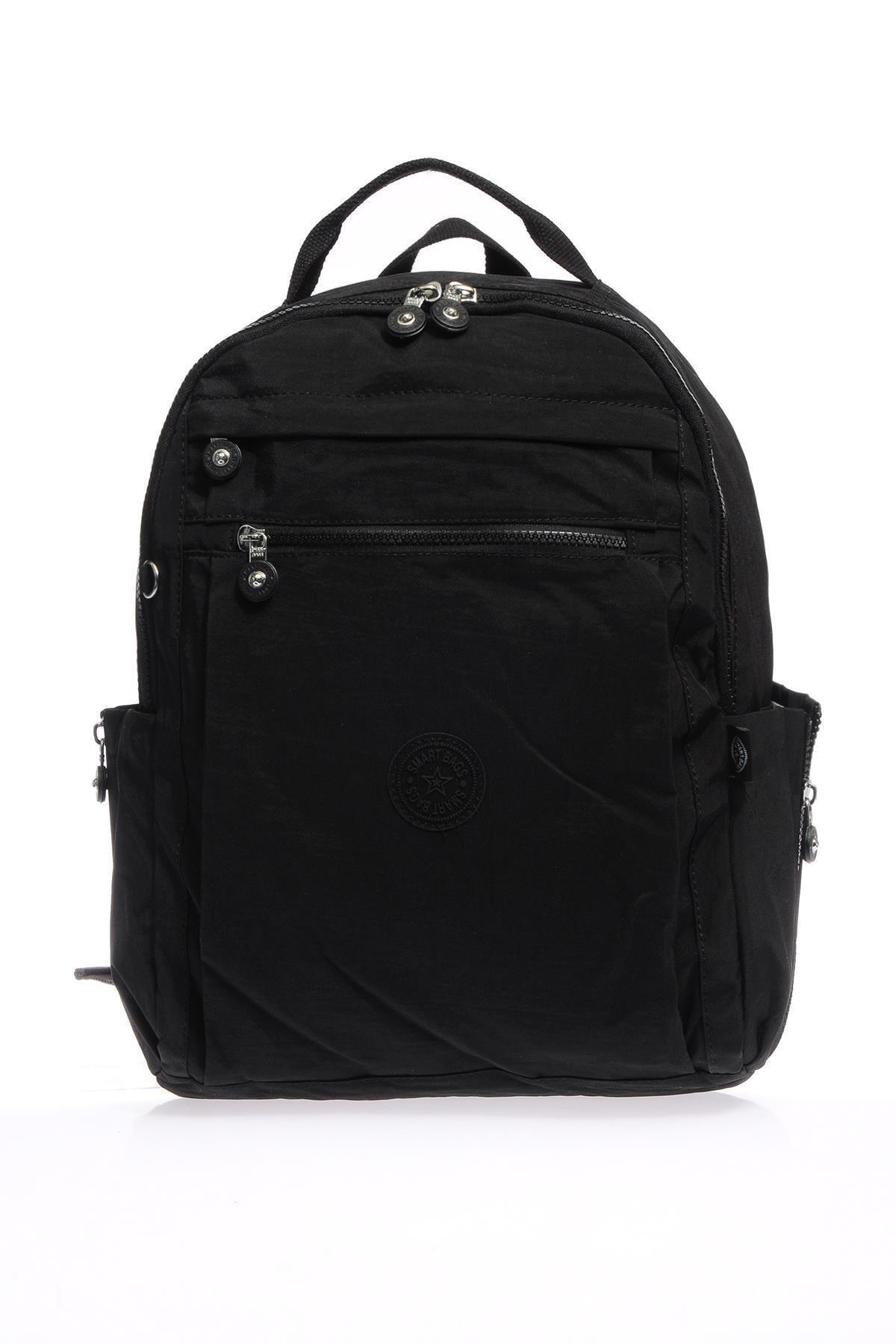 SMART BAGS Smb1247-0001 Siyah Kadın Sırt Çantası 1