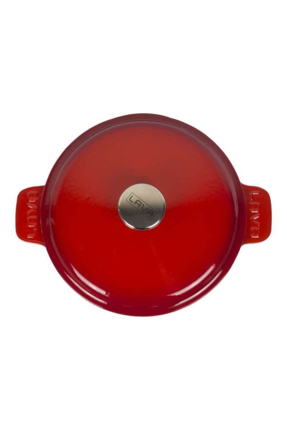 Lava Kırmızı Yuvarlak Tencere Çap 26 Cm 1