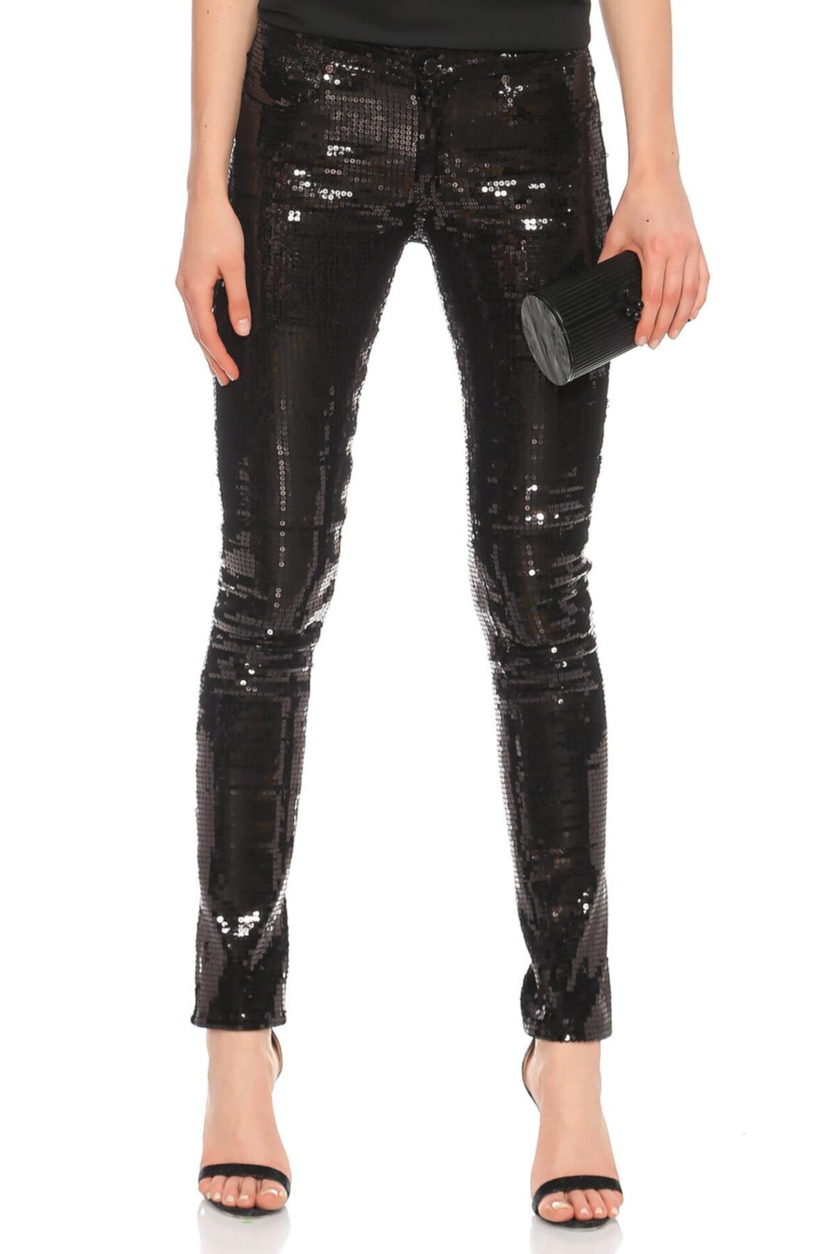 Lotto Vvb Pul-payet Işlemeli Siyah Pantolon 1