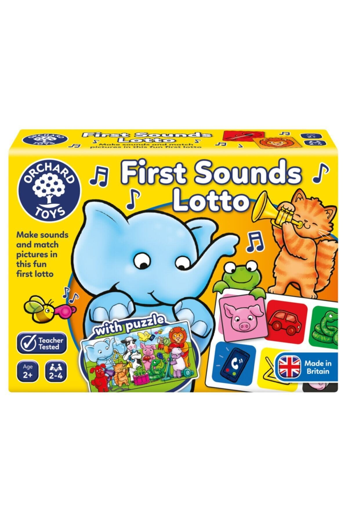 Orchard Toys First Sounds Lotto And Puzzle (ses Eşleştirme) 100 2 Yaş+ 1