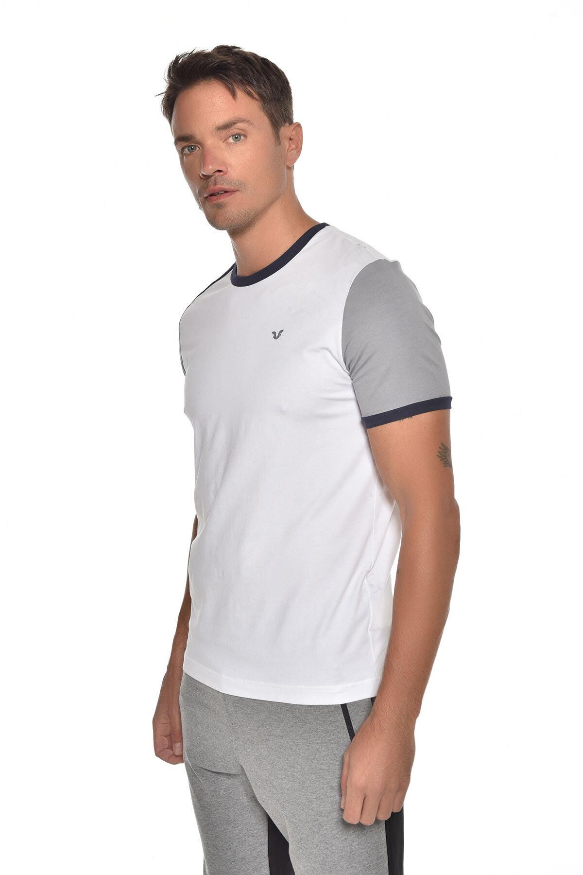 bilcee Beyaz Erkek Kısa Kol T-shirt Gw-9387 2