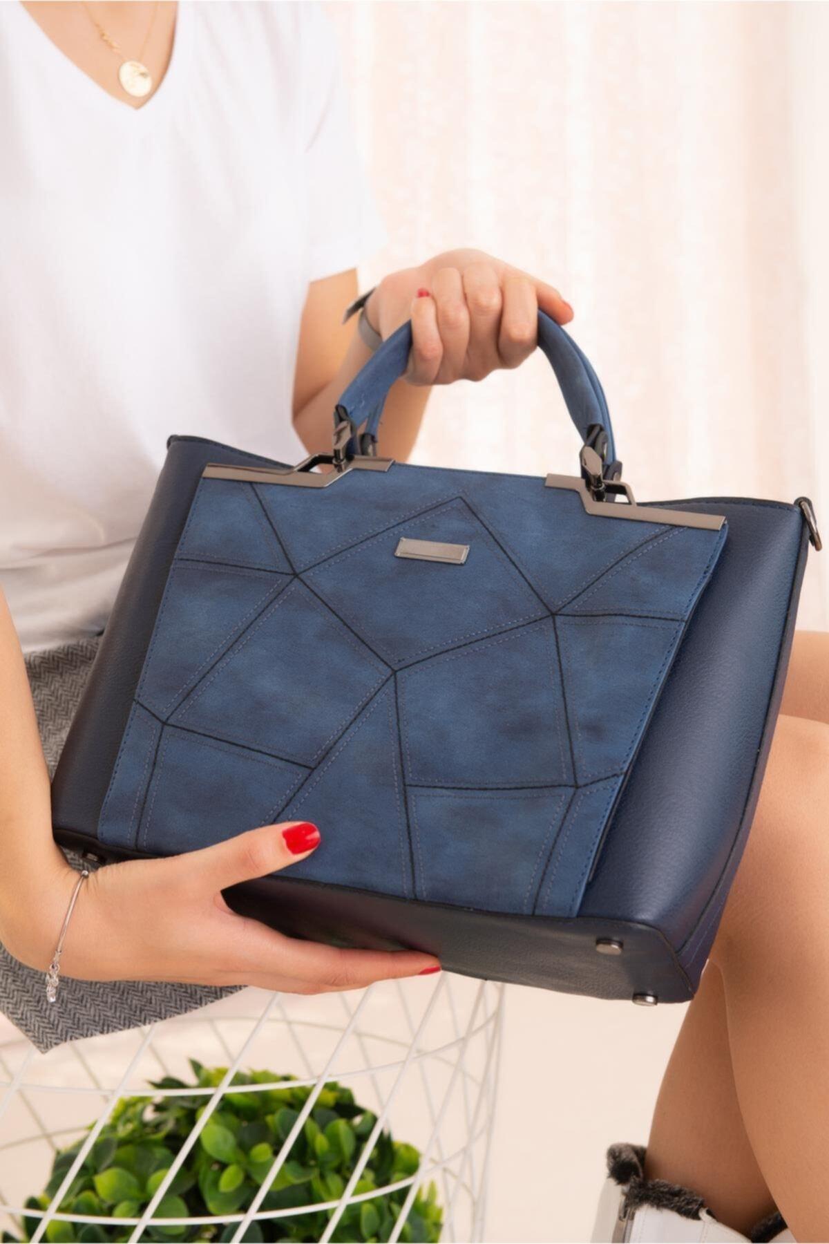 Limoya Bags Kadın Lacivert El ve Omuz Çantası 2