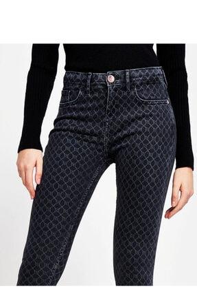 River Island Siyah Amelie Monogram Süper Skinny Jean
