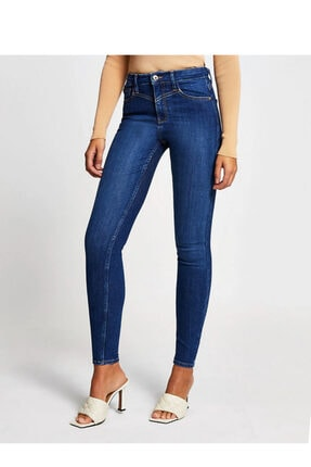 River Island Mavi Denim Yüksek Bel Skinny Jean