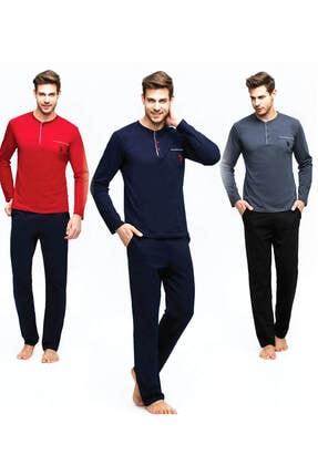 U.S. Polo Assn. Erkek Bordo Uzun Kollu Pijama Takımı
