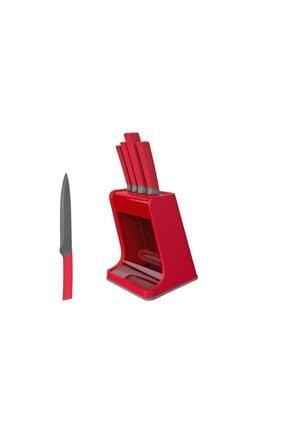 Herevin Sade Beşli Bıçak Seti Kırmızı
