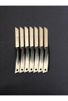 Solingen Gri Tırtıklı Elegans Model Meyve Sebze Bıçağı 6'lı