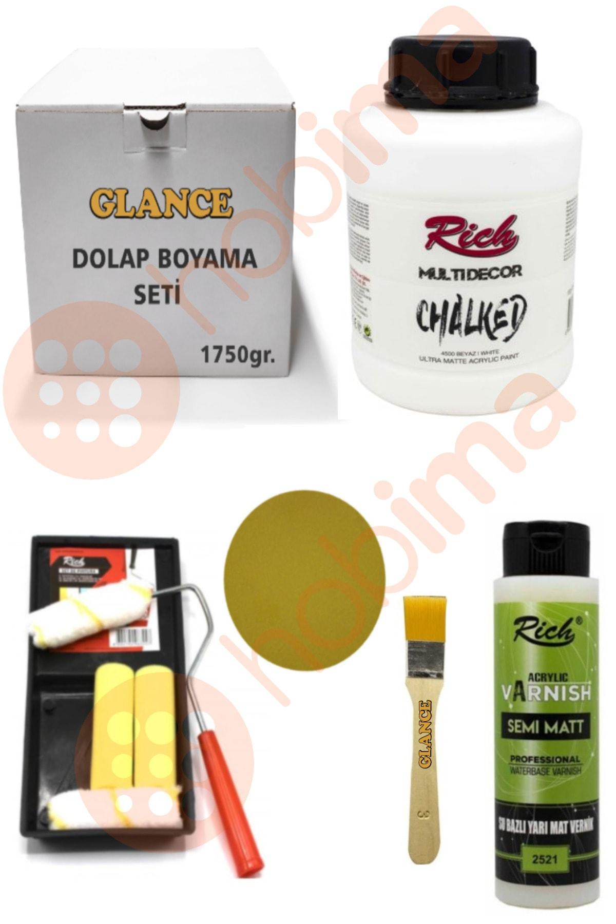 Rich Glance Multi Decor Chalked 1750 Gr ( Beyaz ) Genel Amaçlı Boyama Seti 1