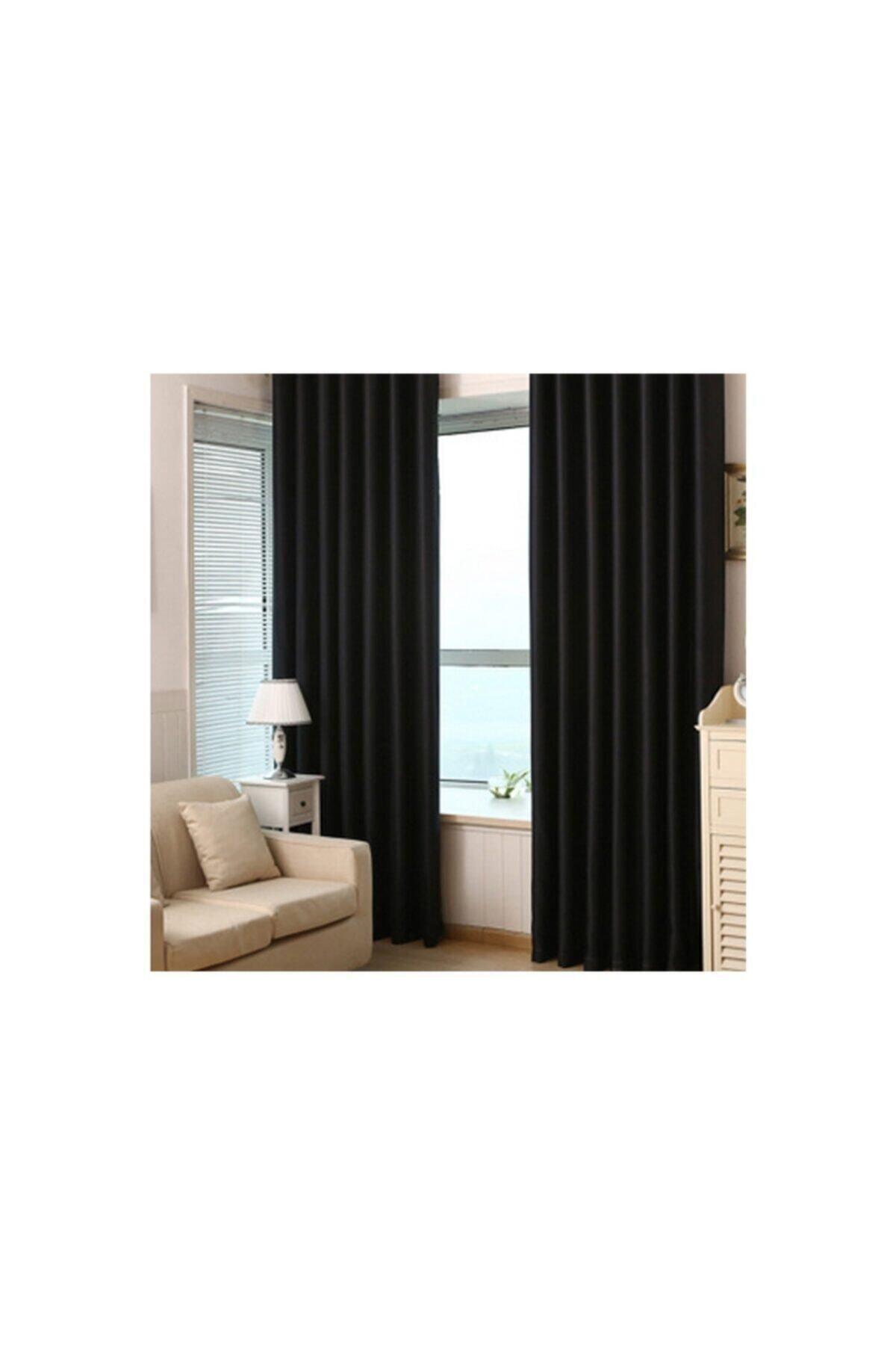 Brillant Blackout Karartma Güneşlik Perde Pilesiz Siyah Lcrblck 100x200 1