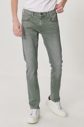 Lee Luke Erkek Açık Haki Slim Düşük Bel Dar Paça Esnek Jean Pantolon