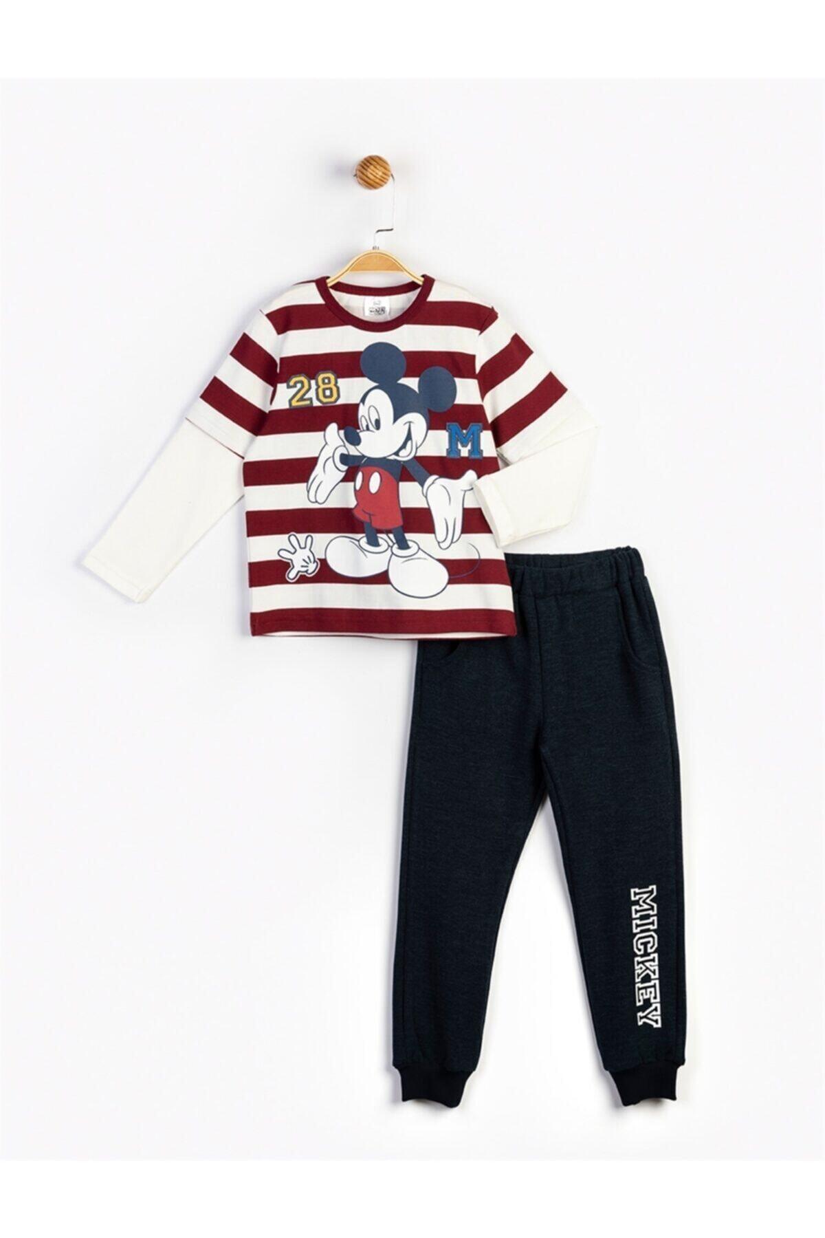 Mickey Mouse Erkek Çocuk Kırmızı Baskılı Takım 16240 1