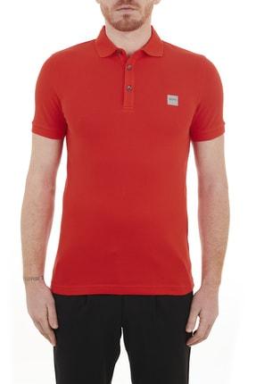 Hugo Boss Slim Fit Pamuklu Düğmeli Polo T Shirt  50378334 618