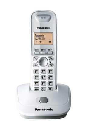 PANASONIC Kx-tg2511 Beyaz Telsiz Dect Telefon Handsfree 50 Rehber