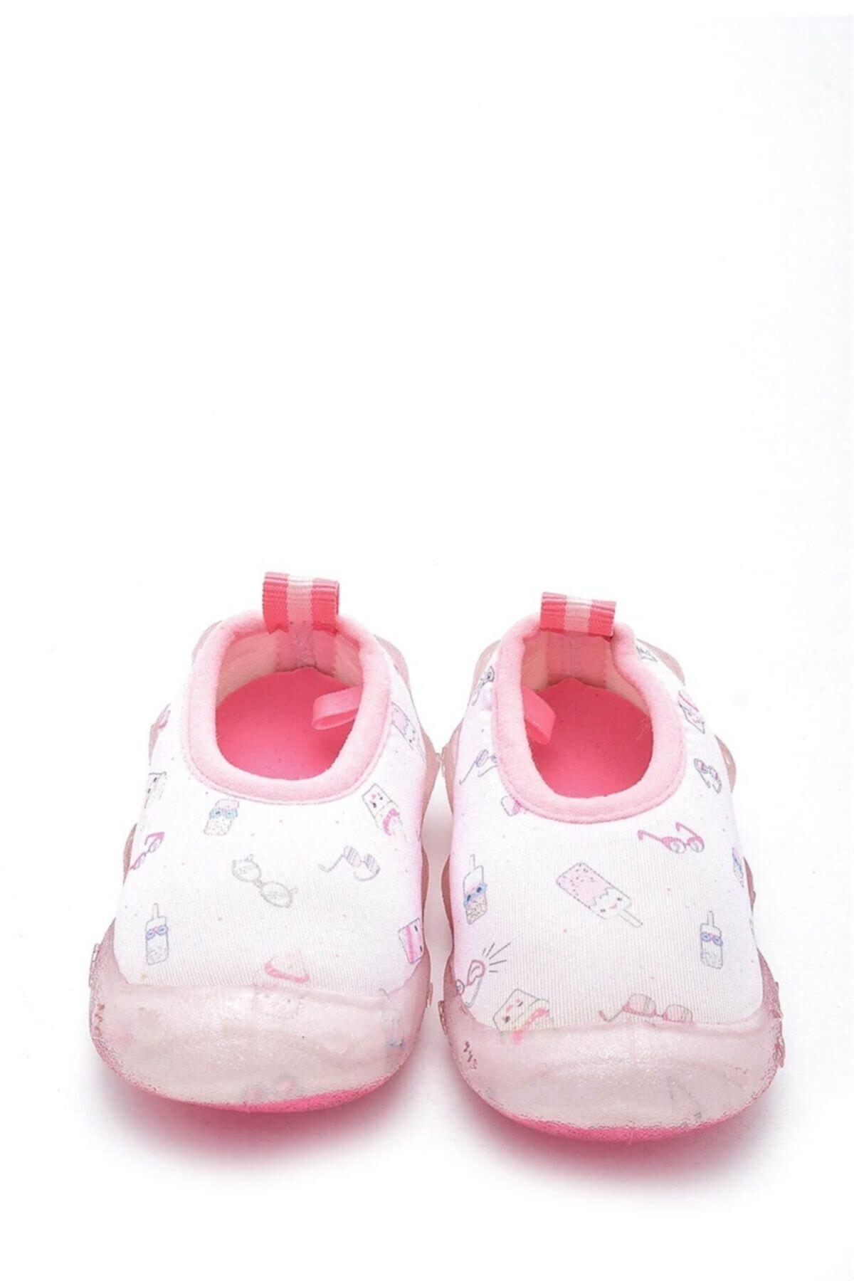 First Step Kız Çocuk Pembe Deniz Ayakkabısı f-474 1