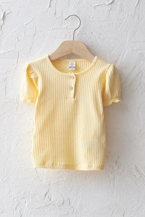LC Waikiki Kız Bebek Sarı Ftk T-Shirt