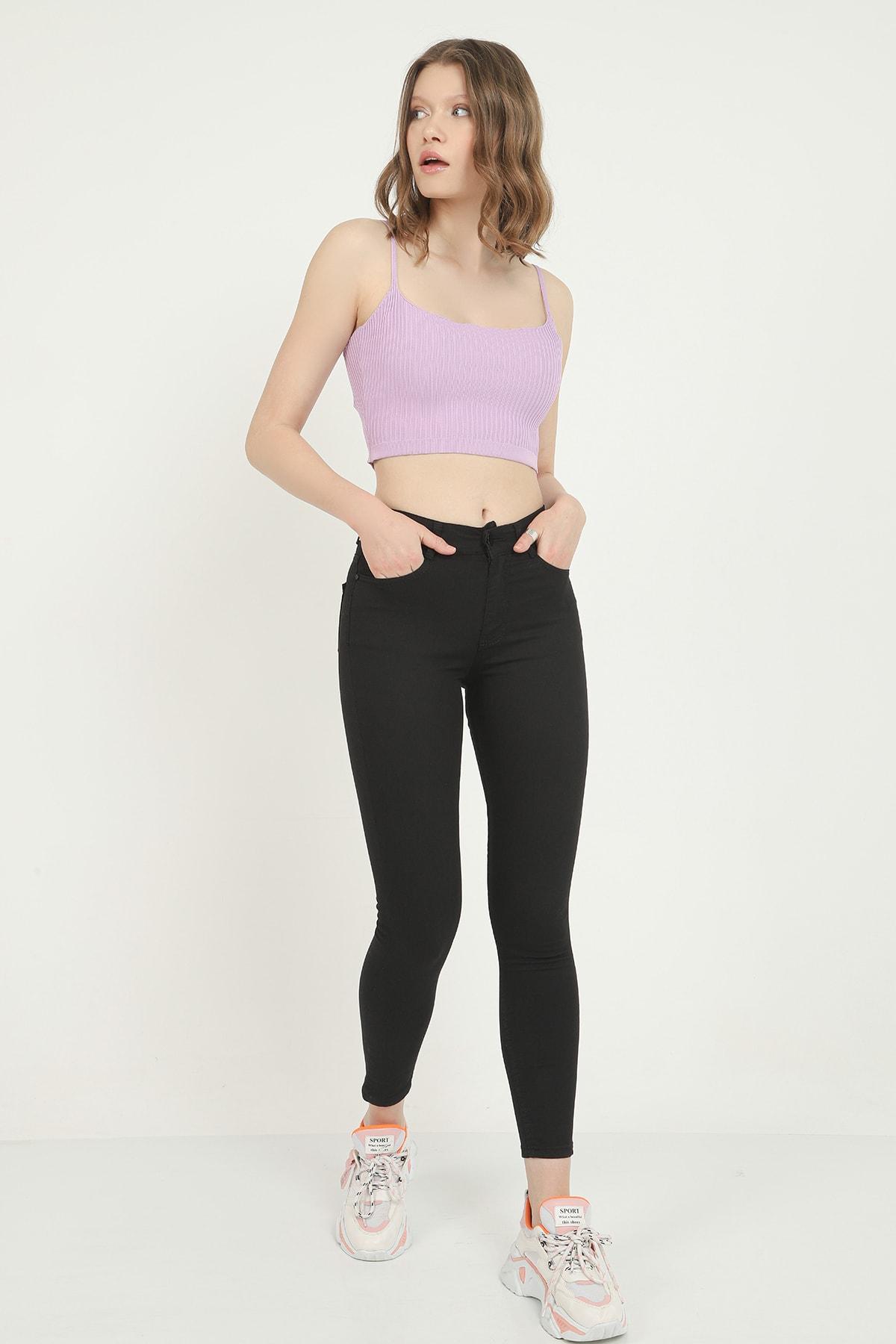İklim Kadın Siyah Yüksek Bel Skinny Jean 1