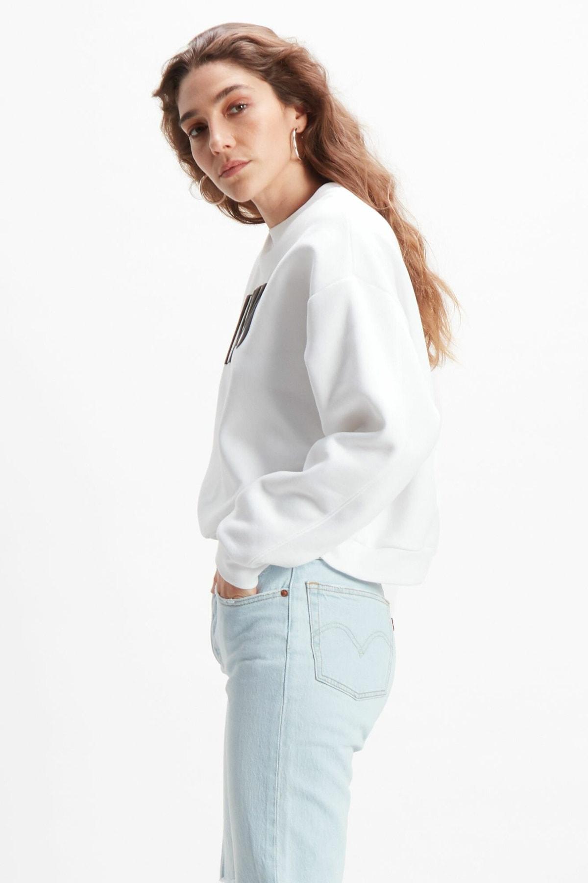 Levi's Kadın Graphic 90's Serif Sweatshirt 85283-0000 2