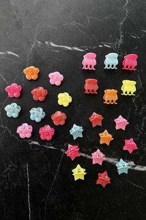 TAKIŞTIR Karışık Renk Küçük Boy Çocuk Mandal Toka Set