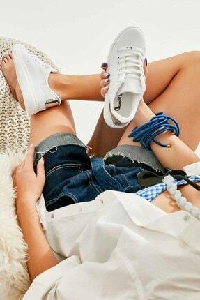 Bambi Beyaz Gümüş Kadın Sneaker K01664175409