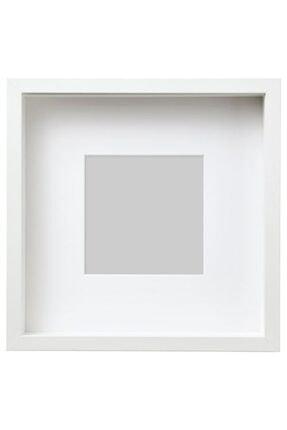 IKEA Beyaz Renk Çerçeve Meridyendukkan Ev Dekorasyon 25x25 Cm 1 Adet