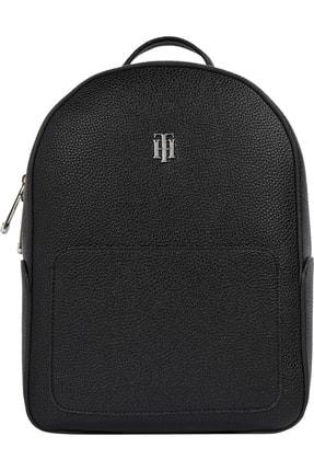 Tommy Hilfiger Kadın Siyah Sırt Çantası Th Essence Backpack