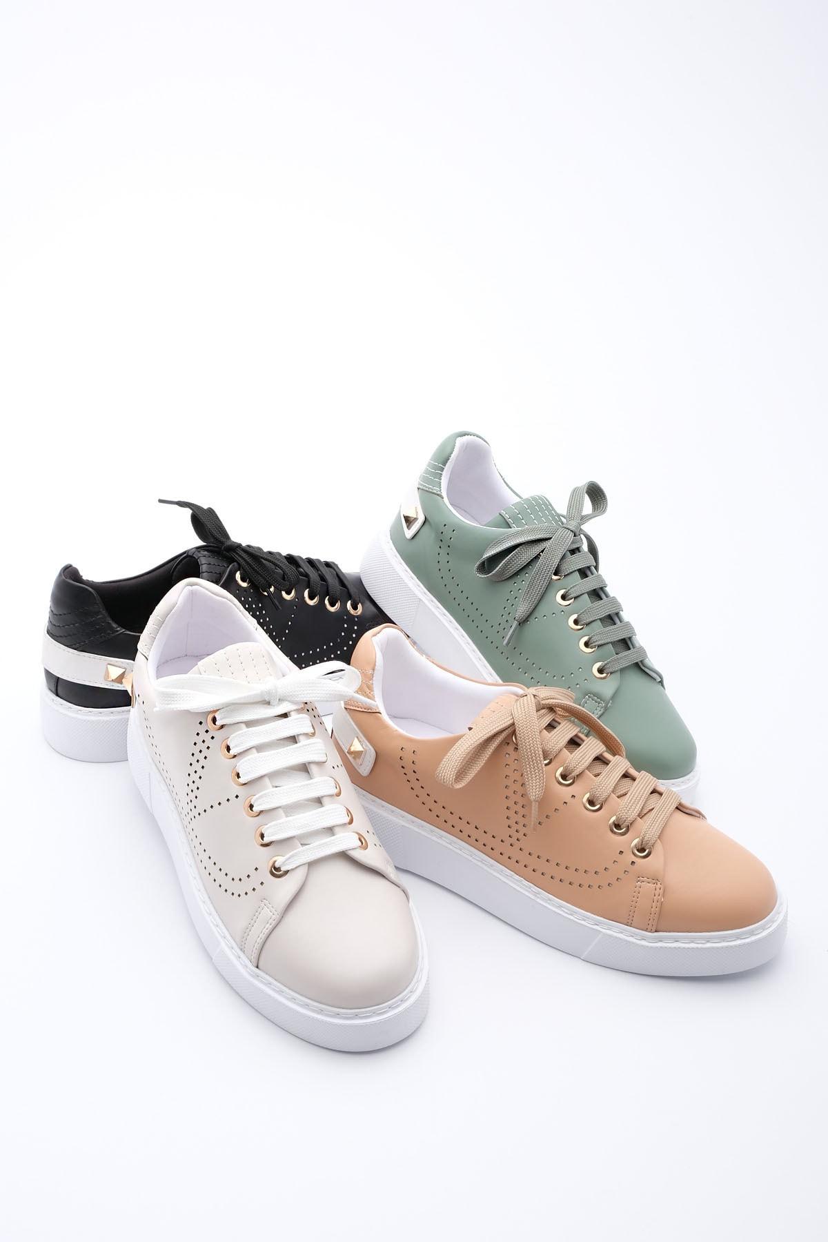Marjin Kadın Yeşil Sneaker Spor Ayakkabı Volares 1