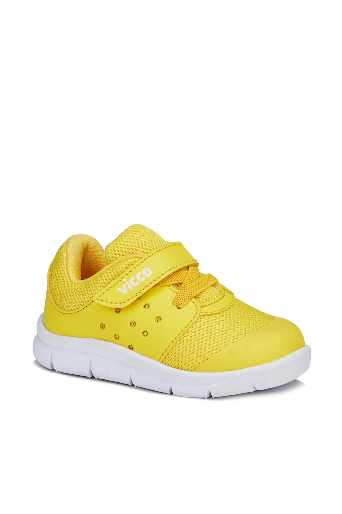 Vicco Mario Unisex Çocuk Sarı Spor Ayakkabı 1